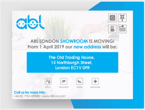 ABL the leading office furniture manufacturer moves into new London showroom