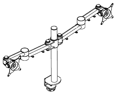 Double Flat Screen Monitor Arm illustration
