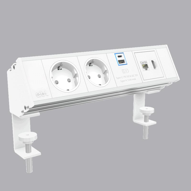 ABL Flexi on desk EU socket